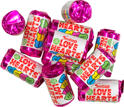 LOVE HEARTS vikt 50g